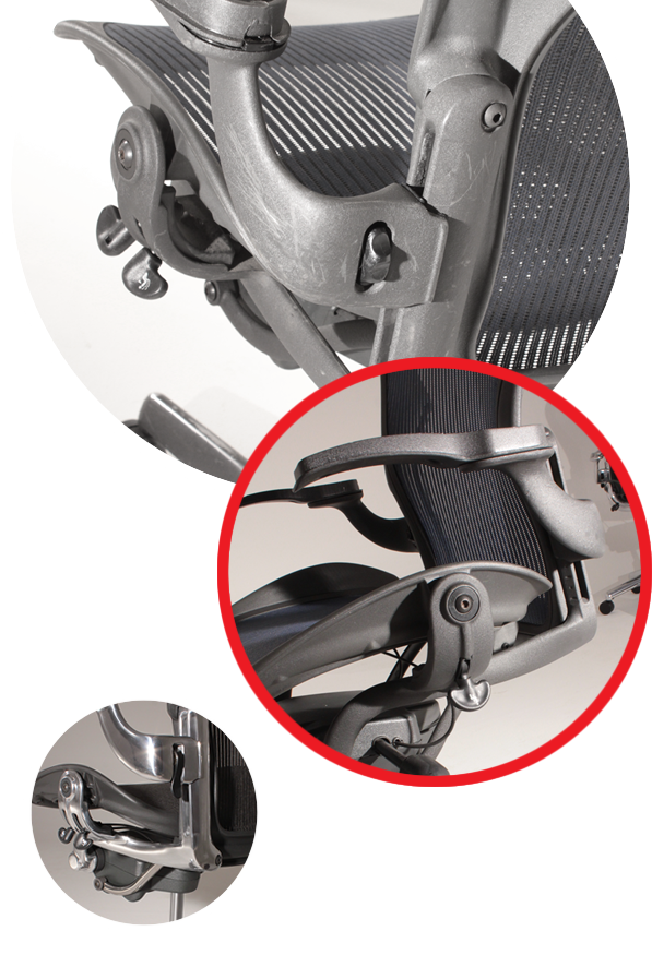 Herman Miller Aeron Mirra Chair Repair Reconditioning